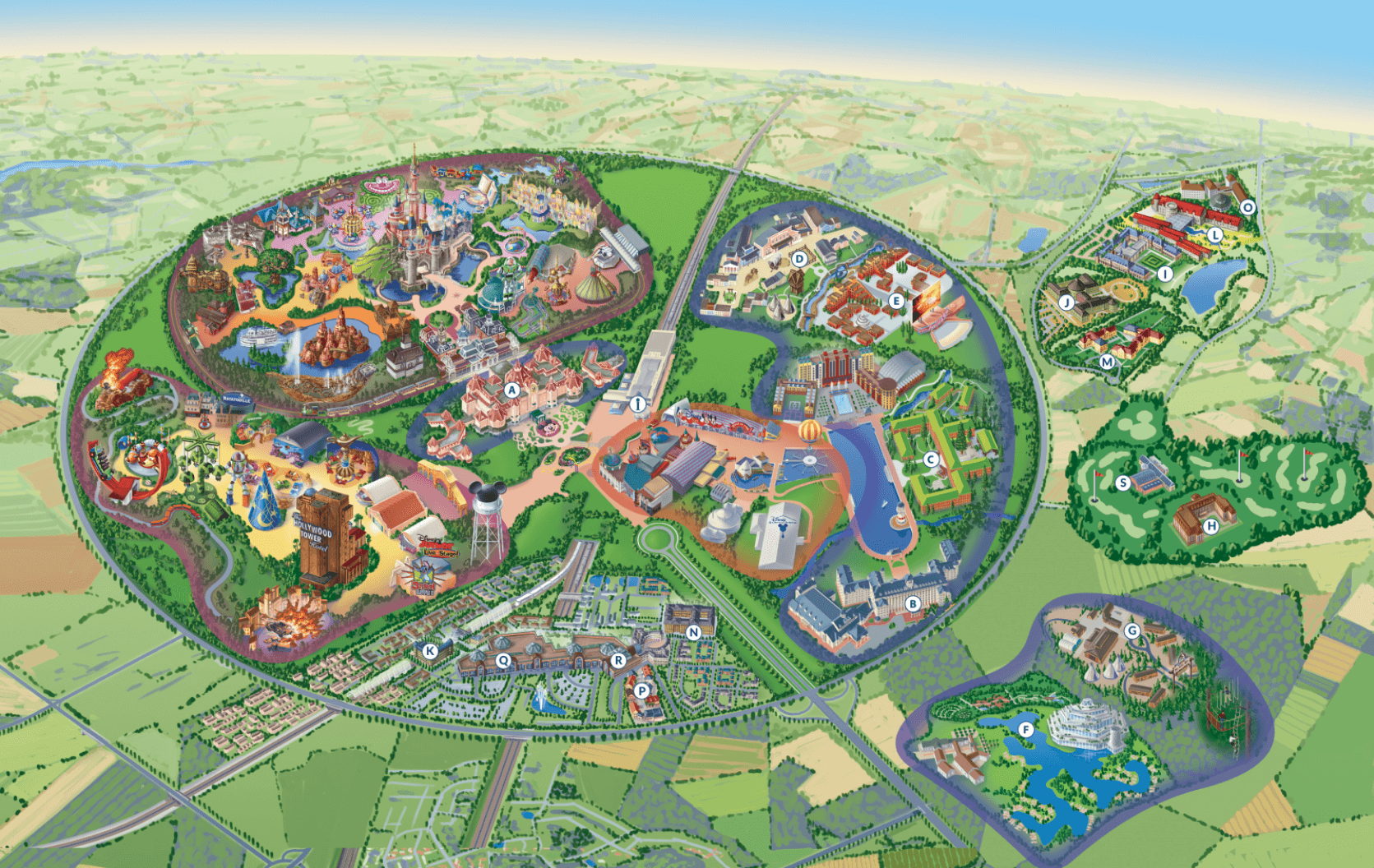 photograph relating to Printable Disneyland Maps named Disneyland Paris Map