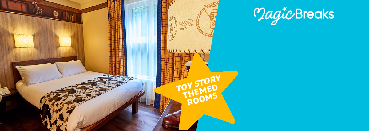MagicBreaks Toy Story-themed rooms special offer carousel banner