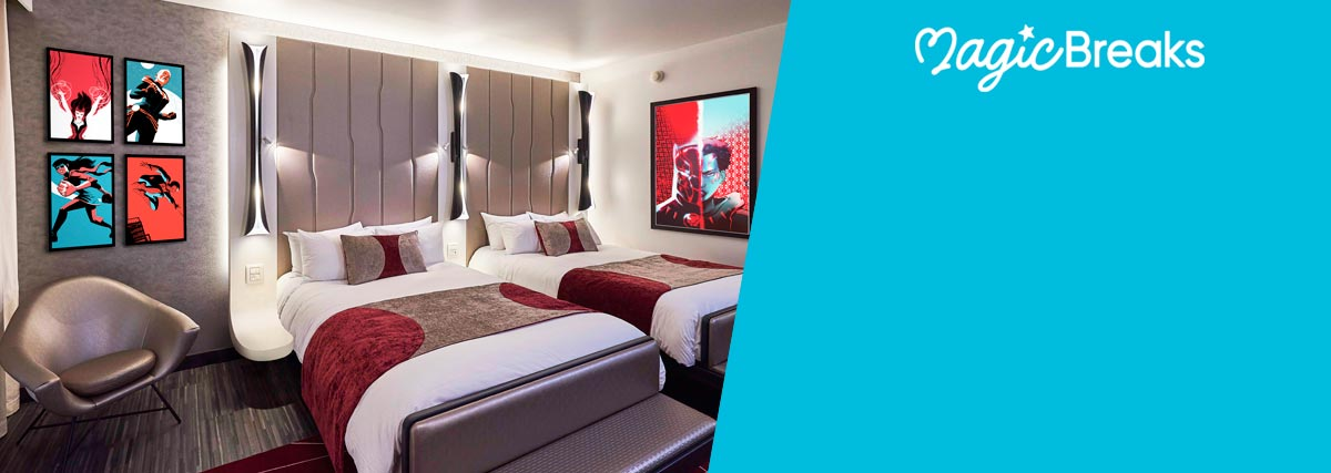 MagicBreaks NEW Marvel-themed Disney® Hotel! special offer carousel banner